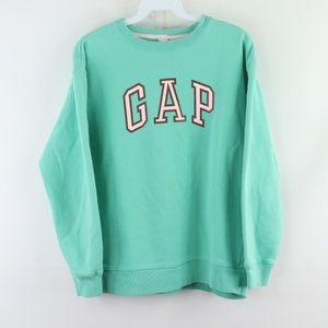 Vtg GAP Womens Small Spell Out Sweatshirt Green